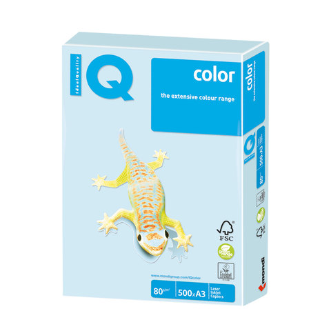 Бумага IQ color А3(500л)80г BL29 светло-голубой